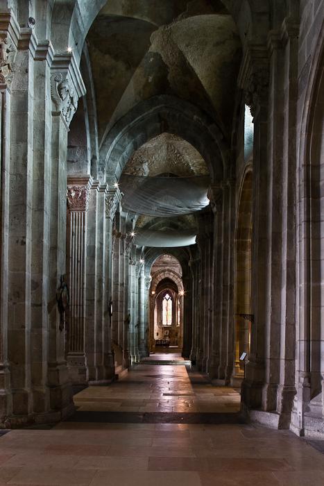 Side aisle, Cathédrale Saint Lazare, Autun (Côte-d'Or) Photograph by PJ McKey