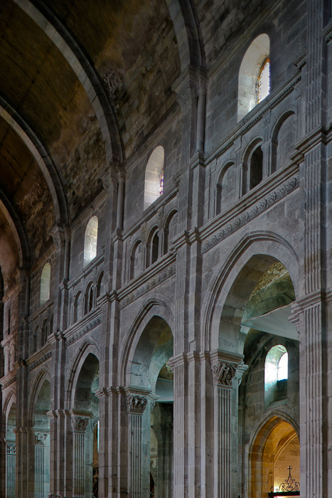 Nave elevation, Cathédrale Saint Lazare, Autun (Côte-d'Or)  Photograph by Dennis Aubrey