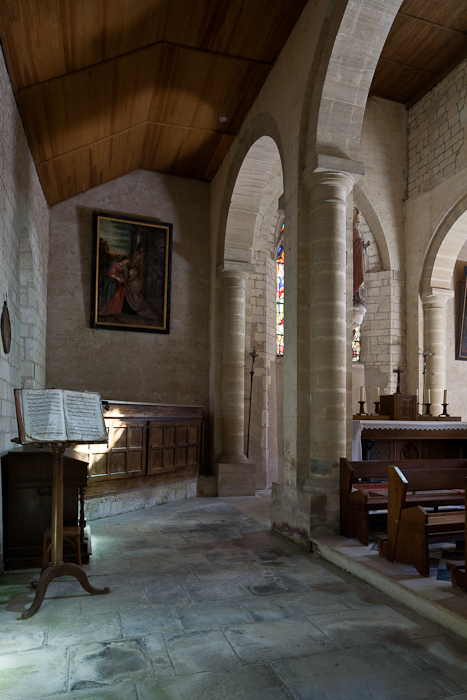 Side chapel, Église Saint-Sulpice, Secqueville-en-Bessin (Calvados) Photo by PJ McKey