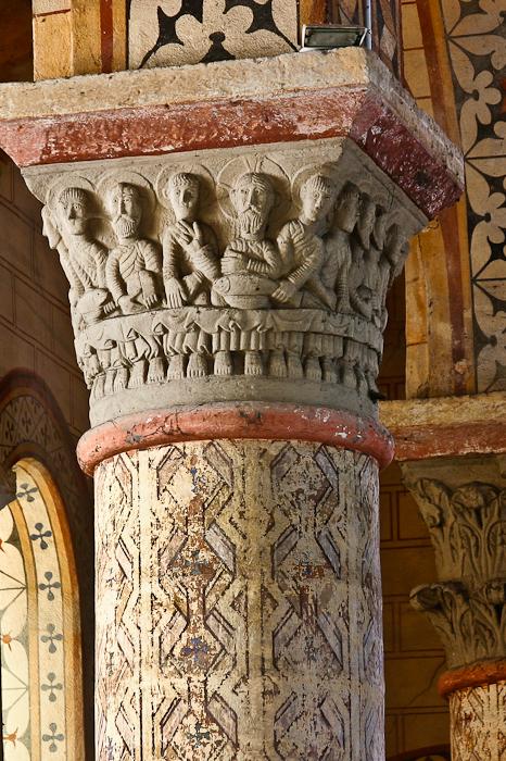 Last Supper capital, Église Saint-Julien de Chauriat, Chauriat (Puy-de-Dôme) Photo by PJ McKey