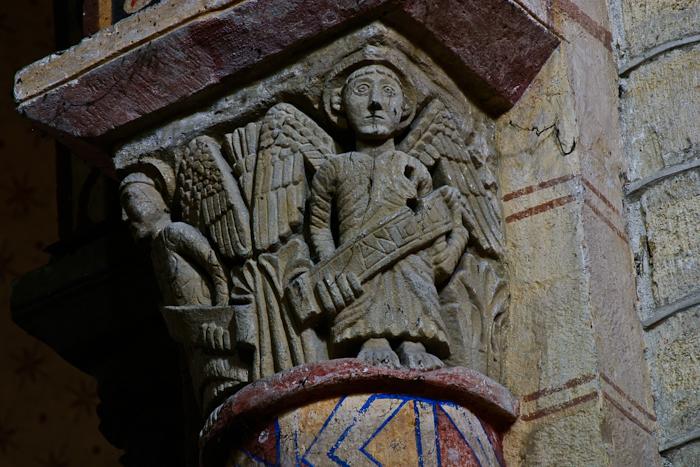 Angel capital, Église Saint-Julien de Chauriat, Chauriat (Puy-de-Dôme) Photo by PJ McKey