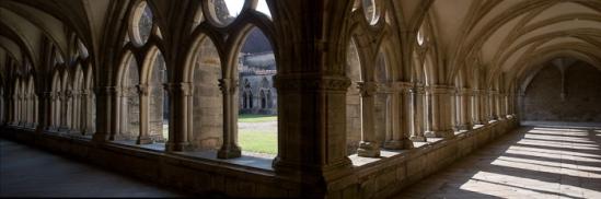 Cloister, Église Abbatiale Notre Dame de Noirlac, Bruere-Allychamps (Cher) Photo by Dennis Aubrey