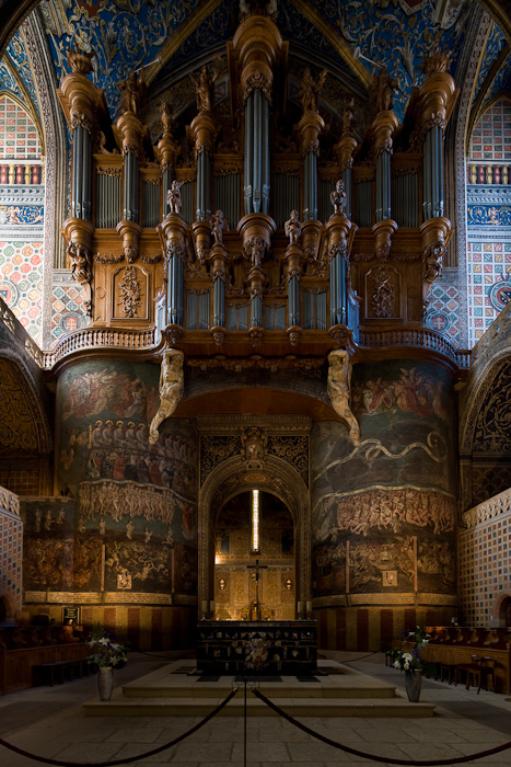 West apse, Cathédrale Sainte-Cécile, Albi (Tarn)  Photo by Dennis Aubrey