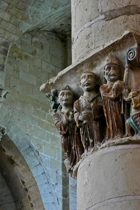 Capitals, Église Notre-Dame de Cunault, Cunault (Maine-et-Loire) Photo by PJ McKey