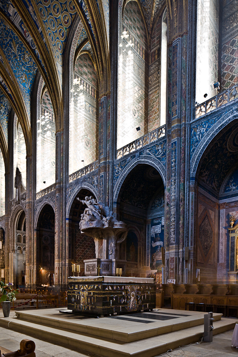 West altar, Cathédrale Sainte-Cécile, Albi (Tarn) Photo by PJ McKey