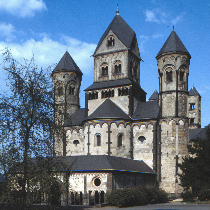 West facade with Paradise atrium, Abbey Church of Maria-Laach, Andernach (Rhineland-Palatinate) Photo by Jong-Soung Kimm