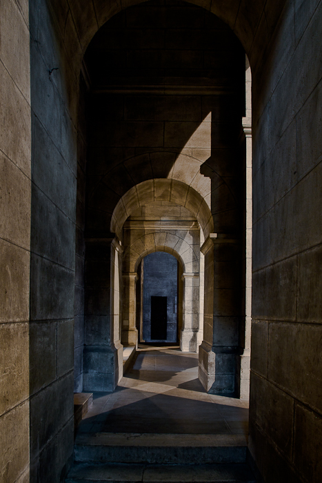 Side aisle, Cathedrale Saint Front, Périgueux (Dordogne)  Photo by PJ McKey