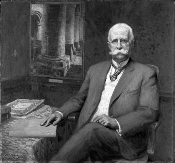 Wilford S. Conrow (American, 1880–1957). Professor William H. Goodyear, 1916. Brooklyn Museum, Gift of Professor Arthur Kingsley Porter, 25.182. Goodyear was the first curator of The Metropolitan Museum of Art.