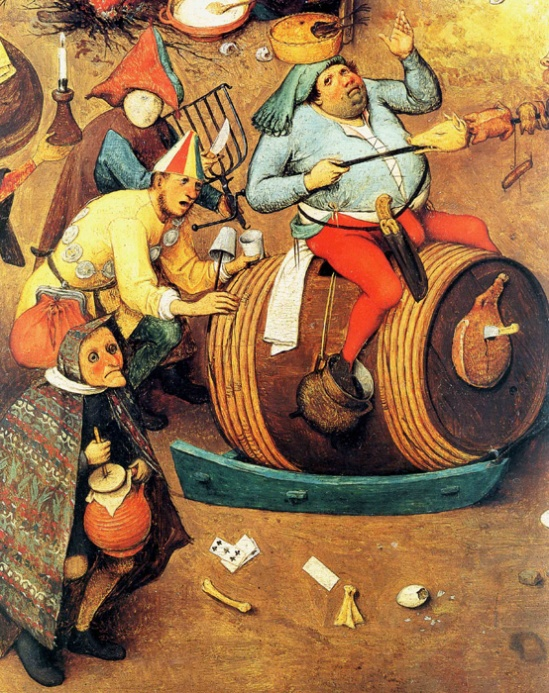 The Fight Between Carnival and Lent (detail), Pieter Bruegel the Elder
