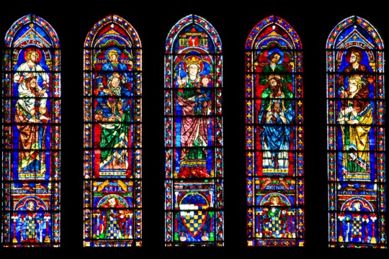 The Stained Glass Of Chartres Dennis Aubrey Via Lucis
