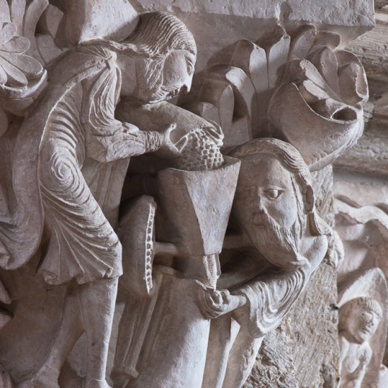 Capital - the Mystic Mill, Basilique Sainte Madeleine, Vézelay (Yonne)  Photo by Dennis Aubrey