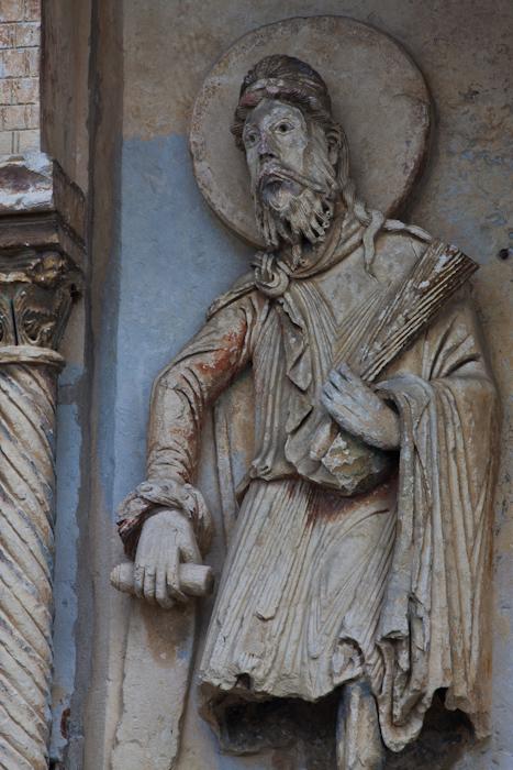 Isaiah detail, Église Notre-Dame du Pré, Donzy-le-Pré (Nièvre)  Photo by Dennis Aubrey