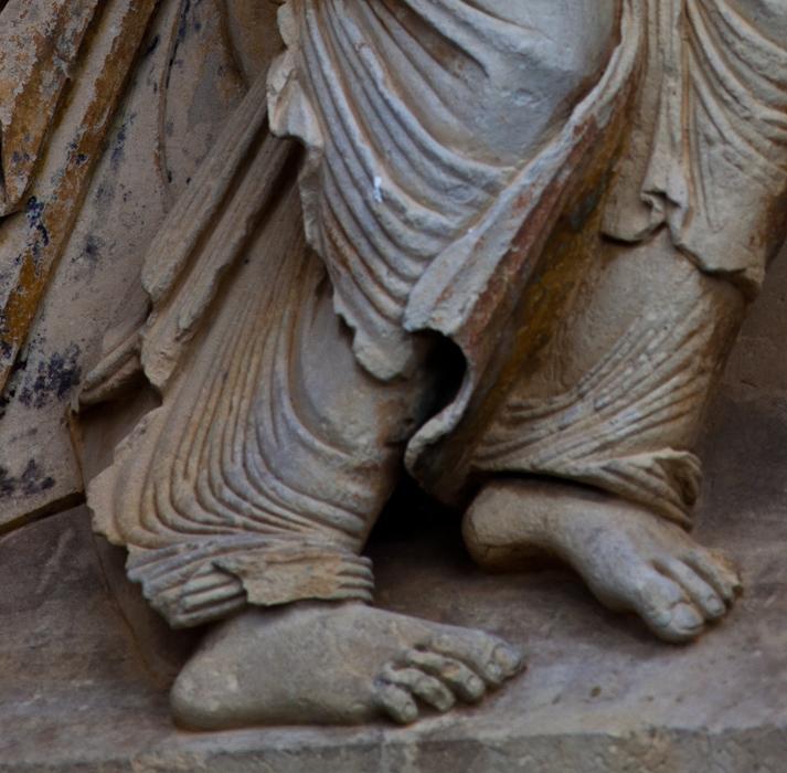 Angel detail – Église Notre-Dame du Pré, Donzy-le-Pré (Nièvre) Photo by Dennis Aubrey