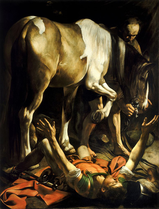 Caravaggio, Conversion on the Way to Damascus, Santa Maria del Popolo (Rome)