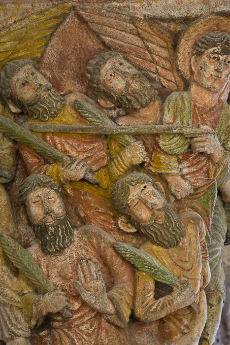 Capital - Angel brings the dead to life, Basilique Notre Dame de Saint Nectaire, Saint Nectaire (Puy-de-Dôme) Photo by PJ McKey