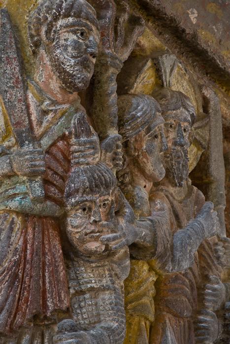 Capital - the Arrest of Christ, Basilique Notre Dame de Saint Nectaire, Saint Nectaire (Puy-de-Dôme) Photo by PJ McKey