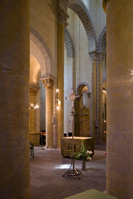 Choir, Basilique Notre Dame de Saint Nectaire, Saint Nectaire (Puy-de-Dôme) Photo by PJ McKey