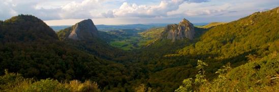 Auvergne landscape, photo by Dennis Aubrey