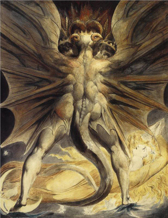 The Red Dragon and the Woman Clothed with the Sun, William Blake