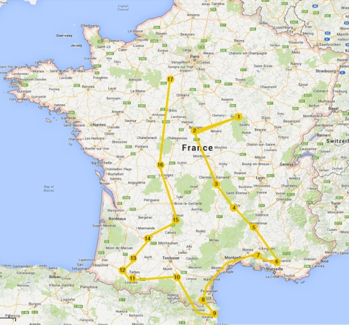 2014 France Map