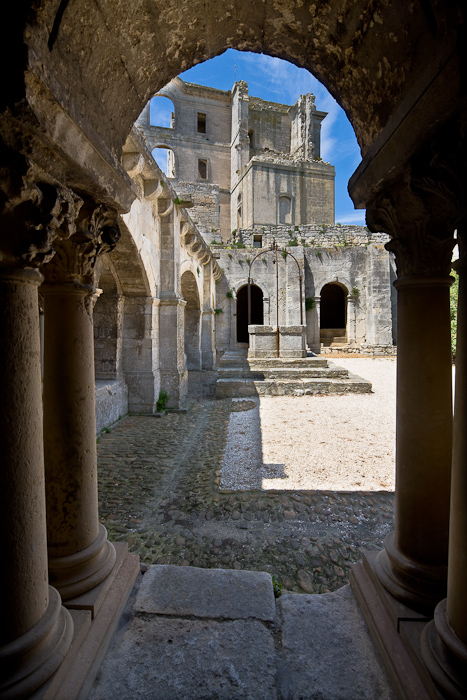 Abbaye Saint-Pierre de Montmajour, Arles (Bouches-du-Rhône)  Photo by Dennis Aubrey