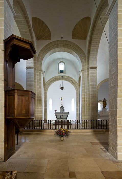 Apse, Église Notre-Dame-de-la-Nativité, Malay (Saône-et-Loire) Photo by Dennis Aubrey