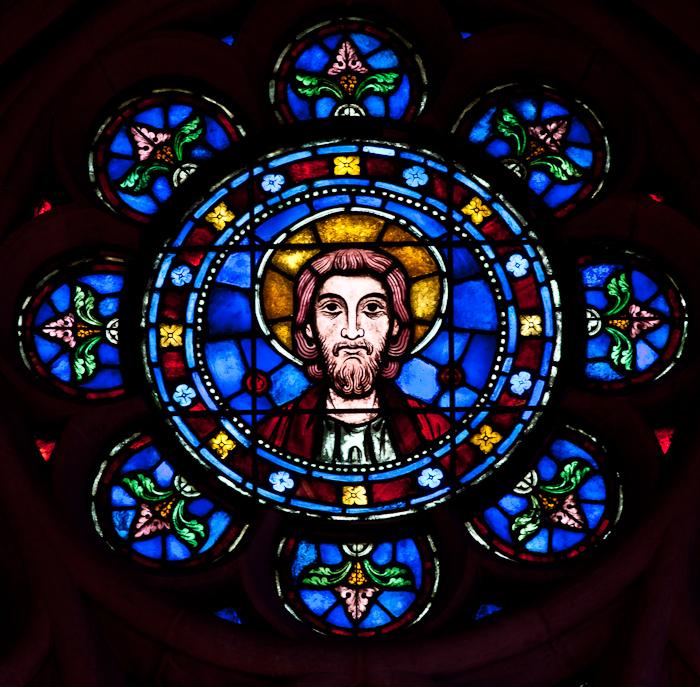 Altar window detail, Bryn Athyn Cathedral, Bryn Athyn (Pennsylvania) Photo by Dennis Aubrey