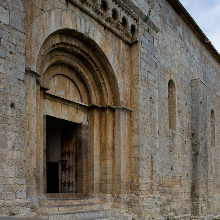 South portal, Iglesia Santa Cecília de Molló, Molló (Girona) Photo by Dennis Aubrey