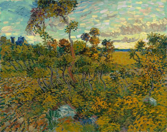 Sunset at Montmajour, Vincent Van Gogh (1888)