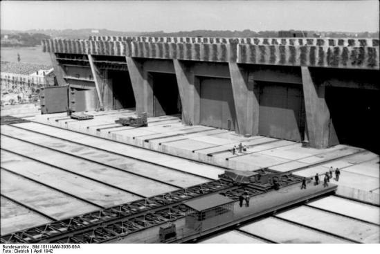 Keroman Submarine Base,  Lorient (Photo courtesy of German Federal Archive, Creative Commons Attribution-Share Alike 3.0)