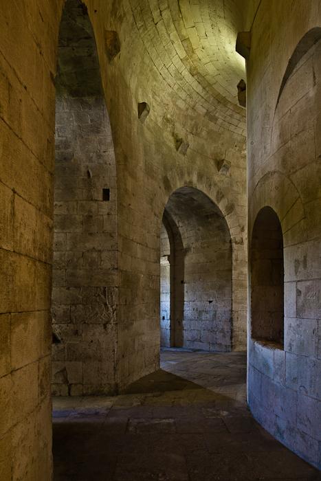 Crypt, Abbaye Saint-Pierre de Montmajour, Arles (Bouches-du-Rhône) Photo by PJ McKey