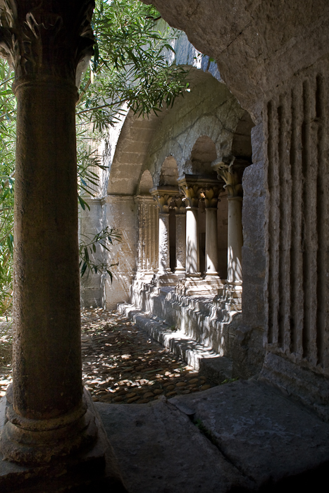 Cloister, Abbaye Saint-Pierre de Montmajour, Arles (Bouches-du-Rhône) Photo by PJ McKey