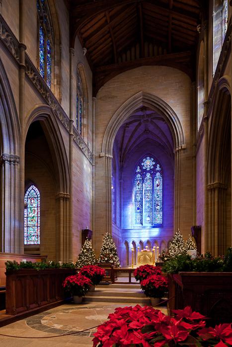 Choir and apse, Bryn Athyn Cathedral, Bryn Athyn (Pennsylvania) Photo by PJ McKey
