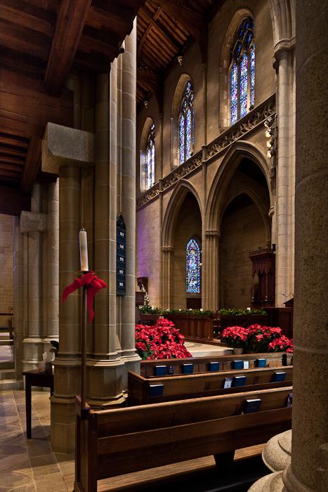 Nave elevation, Bryn Athyn Cathedral, Bryn Athyn (Pennsylvania) Photo by PJ McKey