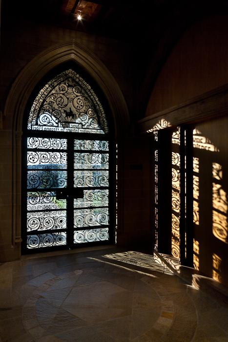 Western metalwork door, Bryn Athyn Cathedral, Bryn Athyn (Pennsylvania) Photo by PJ McKey