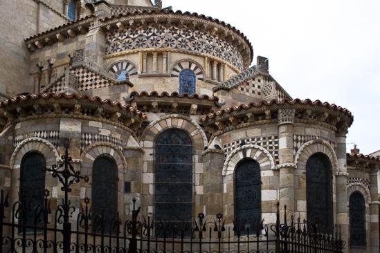 Chevet, Notre Dame du Port, Clermont-Ferrand (Puy-de-Dôme) Photo by Dennis Aubrey