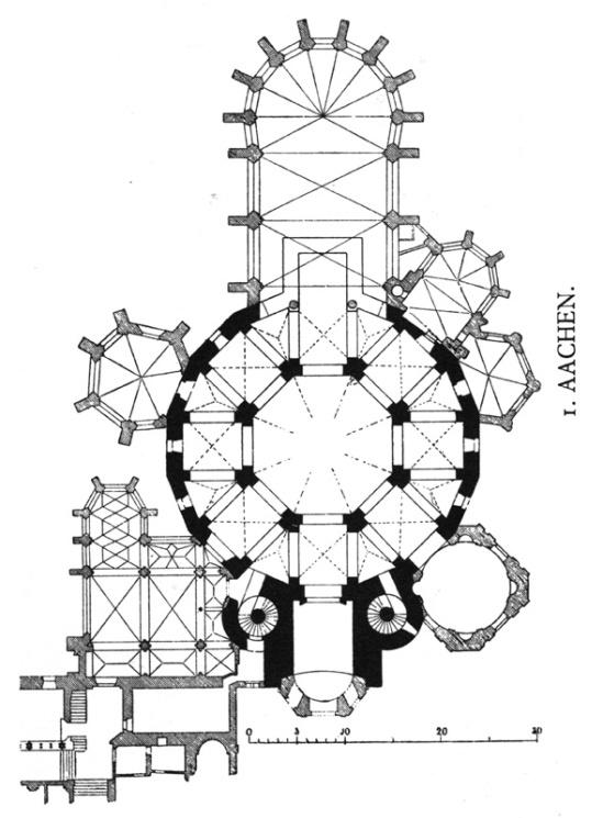 Ground plan, Palatine Chapel, Aachen (Nordrhein-Westfalen)