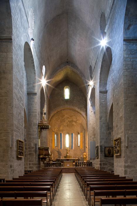 Nave, Abbaye Sainte-Marie d'Arles-sur-Tech, Arles-sur-Tech (Pyrénées-Orientales)  Photo by Dennis Aubrey
