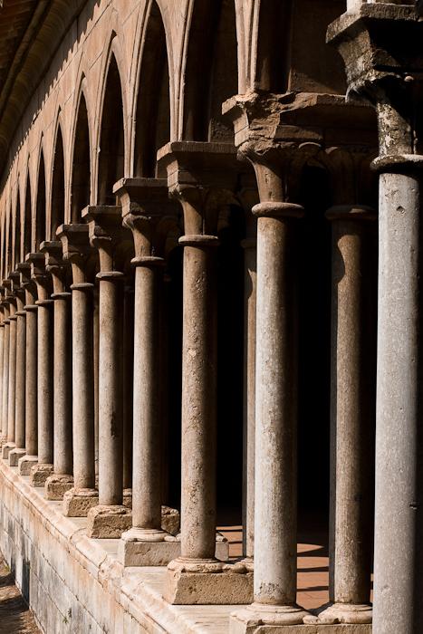 Cloister, Abbaye Sainte-Marie d'Arles-sur-Tech, Arles-sur-Tech (Pyrénées-Orientales)  Photo by Dennis Aubrey