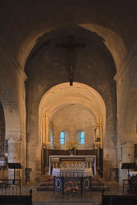 Apse,  Notre-Dame-de-la-Prée-de-Tuffeaux, Chênehutte-les-Tuffeaux (Maine-et-Loire)  Photo by Dennis Aubrey