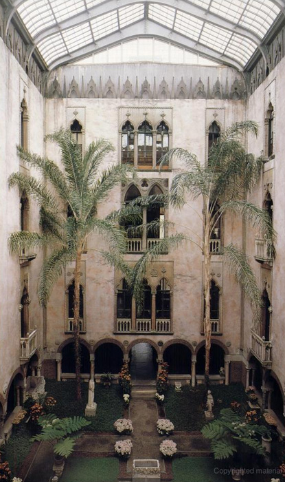 Courtyard, La Réole Portal, from The Isabella Stewart Gardner Museum: A Companion Guide and History By Hilliard T. Goldfarb