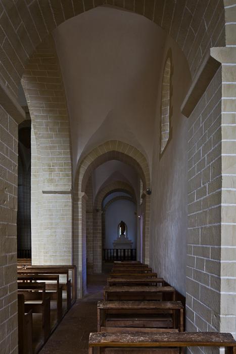 Side aisle, Église Notre-Dame-de-la-Nativité, Malay (Saône-et-Loire) Photo by PJ McKey