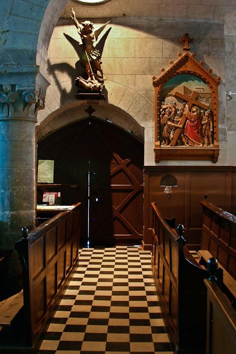 North portal, Notre-Dame-de-la-Prée-de-Tuffeaux, Chênehutte-les-Tuffeaux (Maine-et-Loire)  Photo by PJ McKey