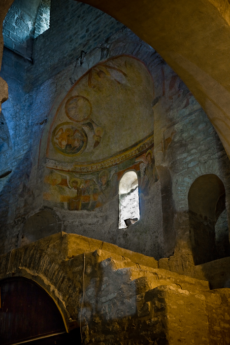 Frescoes, Abbaye Sainte-Marie d'Arles-sur-Tech, Arles-sur-Tech (Pyrénées-Orientales)  Photo by PJ McKey