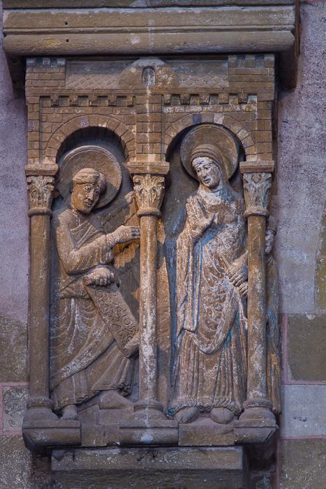 Annunciation panel,  Basilique Sainte Foy, Conques (Aveyron) Photo by Dennis Aubrey