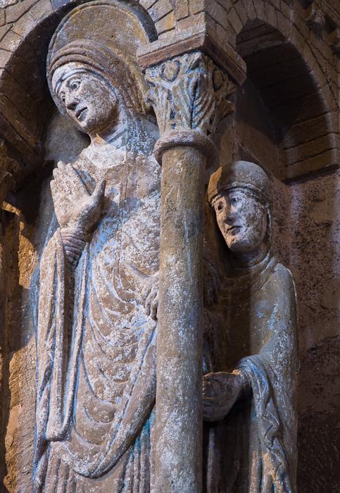 Detail, Annunciation panel,  Basilique Sainte Foy, Conques (Aveyron) Photo by Dennis Aubrey