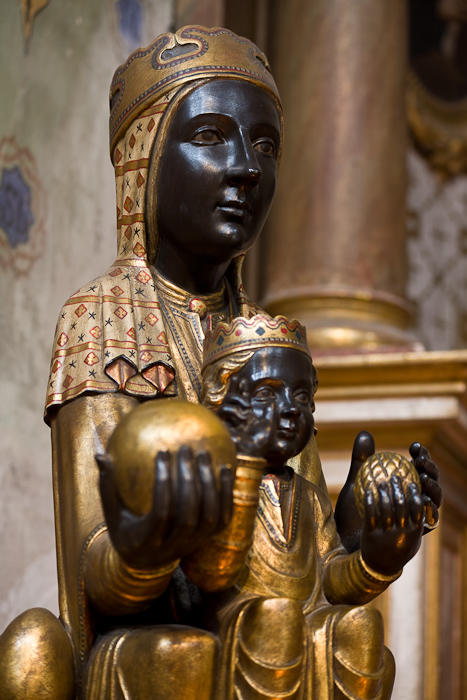 Black Madonna,  Église Saint Pierre, Prades (Pyrénées-Orientales) Photo by Dennis Aubrey