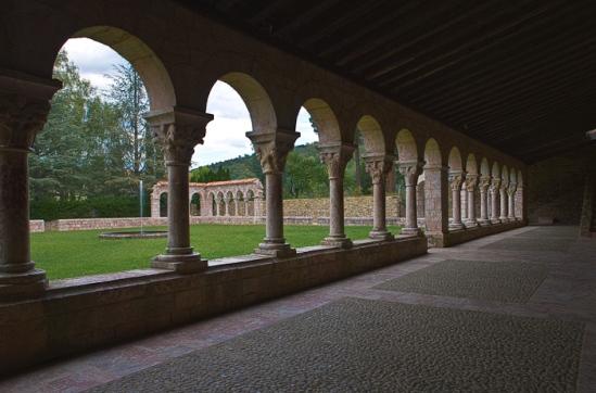 Cloister, Abbaye Saint Michel de Cuxa, Codalet (Pyrénées-Orientales)  Photo by Dennis Aubrey
