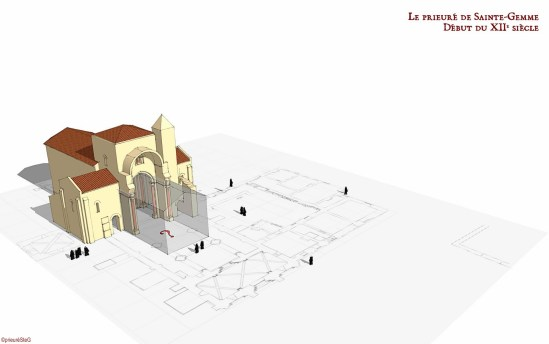 Le Prieuré de Sainte-Gemme (Beginning of XIIth Century)  Model by Andreï Vlad