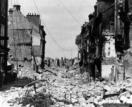 Destruction of the village of Vallonges, June 1944